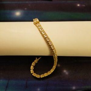 Judith Ripka Princess Diamonique Sterling Bracelet